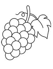 Small Picture Grapes with Leaf Coloring Page Coloring Pages For Kids