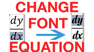 how to change the default font in equation editor cách đổi font mặc định trong equation