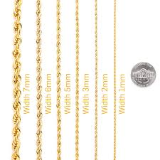 Necklace Thickness Chart Best Rope Chain 6mm Fashion Jewelry Necklaces Made Of Real 24k Gold On Semi Precious Metals Thick Layers Help It Resist Tarnishing 100 Free