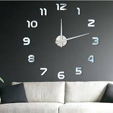 diy large wall clock luxury modern large wall clock mirror surface sticker home office decor diy