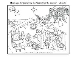 Christmas Nativity Scene Coloring Pages For Free Jokingartcom