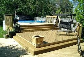 full size of above ground pool deck kits for decks pictures oval ft round building