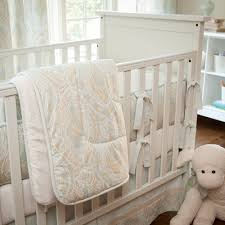 blue and taupe paisley crib bedding neutral baby carousel designs