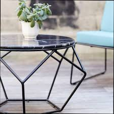 ori marble and metal outdoor round coffee table