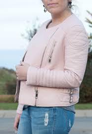 pink leather zara jacket