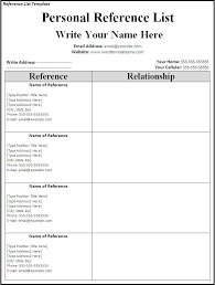 Professional References List Template Professional References Template Word inside List Of References 41
