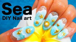 波ネイルのやり方 海やプールにぴったり簡単に水面を描く方法 Youtube