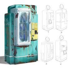 Chill Vending Machine Mesmerizing Pop Chill Vending Machine Concept For Fallout Miami Fallout