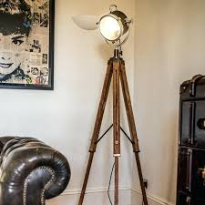 spotlight floor lamp ikea lamps striking photos concept with wood tripod lighting metal restoration grey wooden three