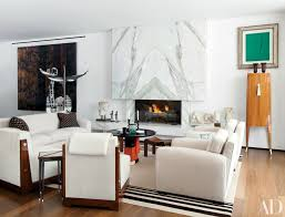 marble fireplace in living room
