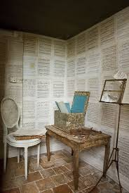 Sheet music wallpaper could be exactly what your music studio or home  practice room is missing! This one goes for a clean, organized look.