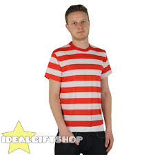 Striped T Shirt Top Black White Red Green Yellow Fancy Dress Short
