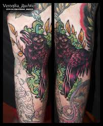 татуировка нео традишнл москва мастер Veronika Raubtier