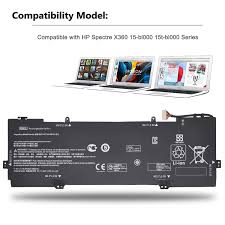 Hp Battery Compatibility Chart Emaks Kb06xl Battery For Hp Spectre X360 15 Bl000 15t Bl000 15 Bl075nr 15 Bl012dx 15 Bl152nr 15t Bl100 2pg91ea Z6l02ea Z6l01ea Z6l00ea Z6k99ea Z6k97ea
