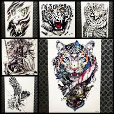 прохладный тигр король дизайн водонепроницаемый временные съемный