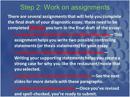 writing the diagnostic essay for the c assignment diagnostic  3 step