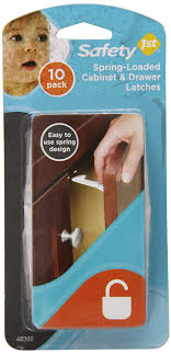 Safety 1st Cabinet Lock Amazoncom Safety 1st Spring N Release Latches 10 Pack