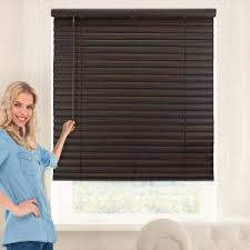 dark wood blinds. Perfect Blinds Chicology Dark Walnut Cordless 2 In Vinyl Mini Blind  31 W X 64  LVNBDW3164 The Home Depot For Wood Blinds