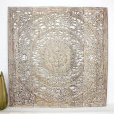 variations on lotus panel wall art with wall decor teak wood lotus flower panel square thai art hanging
