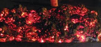 create a and easy burning coals prop for