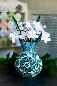 Flower Vase With Paper Flowers In A Vase Mayholic In Crafts