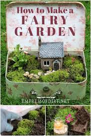 how to make a fairy garden easy outdoor project
