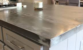 the versatility and durability of zinc sheets for countertops