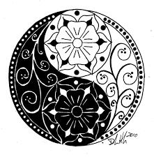 Yin And Yang Mandela Kleurplaten Yin Yang Tattoos Yin Yang