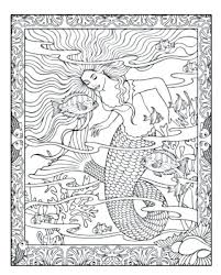 Lovely Mermaid Coloring Pages For Adults And Mermaid Printable