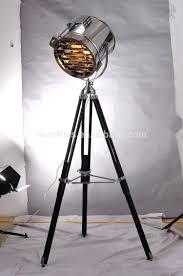retro tripod floor lamp studio picture design iron chrome spot light for cinema vintage style mid century colorful lamps walnut holtkoetter parts hubbardton
