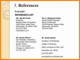 Resume References Stunning How To Write A Reference Page For Resume