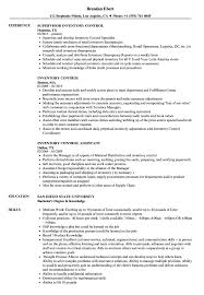 Inventory Control Resume Sample Inventory Control Resume Samples Velvet Jobs 11
