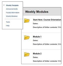weekly syllabus template blackboard 9 1 faculty resources