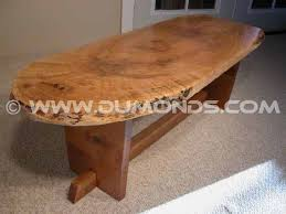 live edge wood coffee tables custom