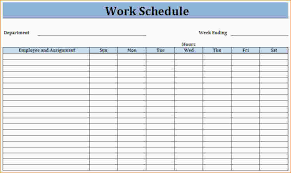 Work Schedule Charts 28 Images Of Schedule Chart Template Leseriail Com