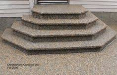 Stamped concrete patio with stairs California Weave Stamped Stamped Concrete Front Steps Steps front Sided With Custom Toe Box Exposed Aggregate Maryland Curbscape 31 Best Stamped Concrete Images Cement Steps Patio Steps Stamped