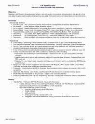 48 Fresh Qtp Sample Resume For Software Testers Awesome Resume