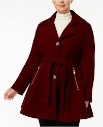 Inc Plus Size Skirted Belted Coat Created For Macys