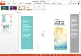 Microsoft Brochure Templates Download Powerpoint Trifold Template Download Sparkspaceny Com