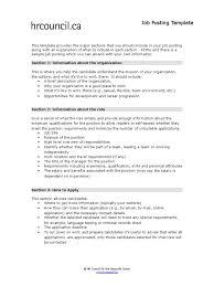 Job Posting Template Job Posting Template Docshare Tips