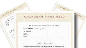 Deed Poll Template Change Your Name Instantly Crimebodge