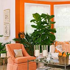 Orange Color Living Room Decorating With Orange An Instant Pick Me Up Traditional Home