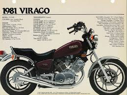 yamaha virago. 1981 yamaha virago ad. p