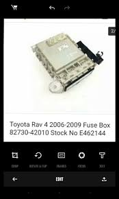 body control module or interior fuse box for toyota rav4 2010 v6 3 5 2010 Toyota RAV4 Head Light Fuse this is what the box looks like but these are for 2009 model re body control module or interior fuse box for toyota rav4 2010