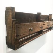 reclaimed wood mug rack urban rustic. Rustic Wood Wine Rack - 36x11 In. Aged Brown Pallet Shelf 100 Reclaimed Mug Urban