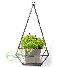 triangle pyramid geometric glass terrarium box succulent fern moss planter hanging plant pots bonsai pots flower