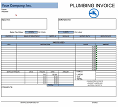Free Plumbing Invoice Template