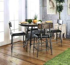 round counter height kitchen table now the industrial style round counter height table set at