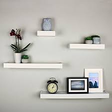 ballucci modern ledge wall shelves set