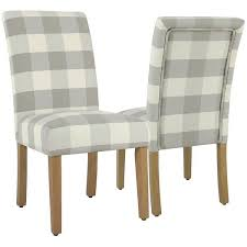 gray buffalo check dining chairs set of 2 300 liked on polyvore